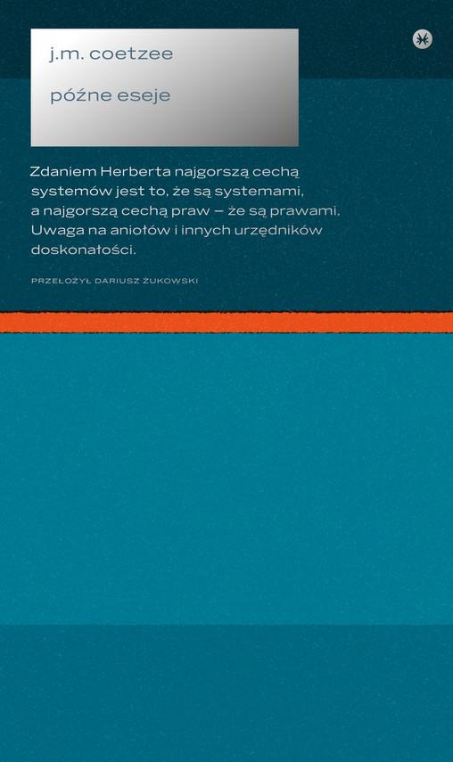 okładka Późne eseje 2006–2017, Ebook | John Maxwell Coetzee
