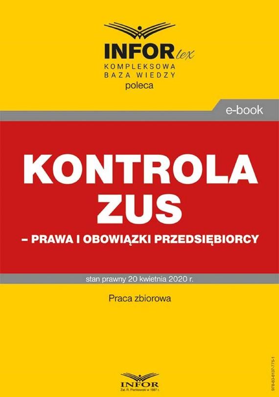 okładka Kontrola ZUS – prawa i obowiązki przedsiębiorcyebook | pdf | Praca Zbiorowa