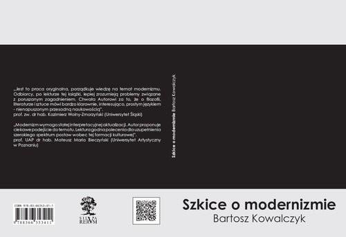 okładka Szkice o modernizmie, Książka | Bartosz  Kowalczyk