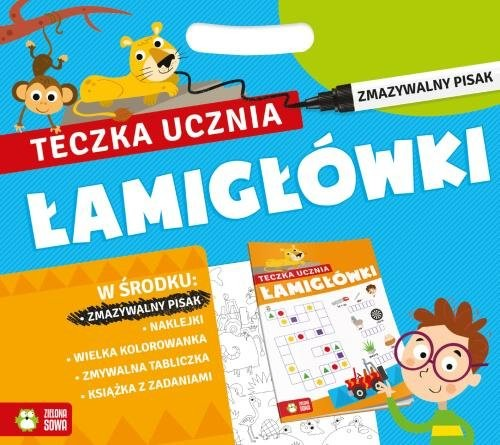 okładka Teczka ucznia z pisakiem Łamigłówkiksiążka |  |