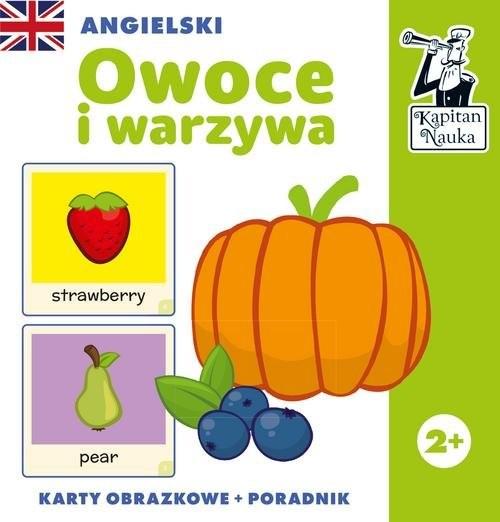 okładka Angielski Owoce i warzywa (karty obrazkowe + poradnik), Książka | Praca Zbiorowa