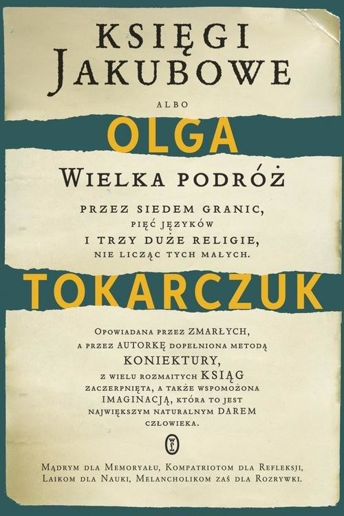 okładka Księgi Jakubowe , Książka   Olga Tokarczuk