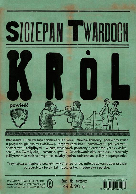 okładka Królksiążka      Szczepan Twardoch