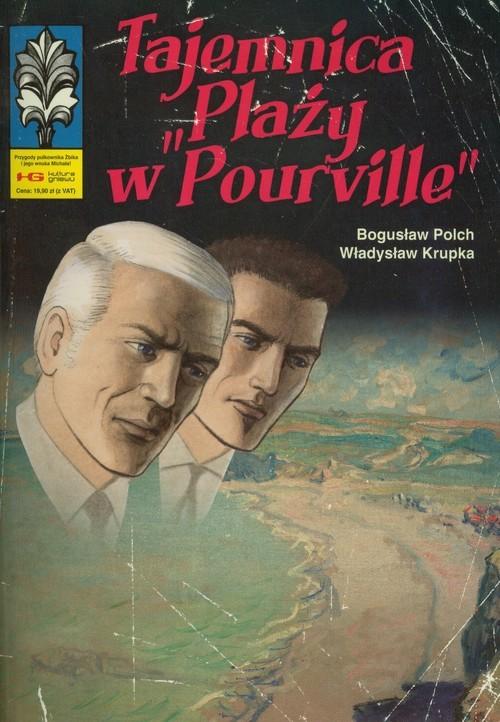 """okładka Tajemnica """"Plaży w Pourville""""książka      Bogusław Polch, Władysław Krupka"""