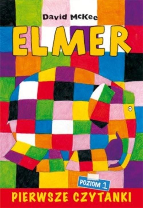 okładka Pierwsze czytanki Elmer słoń w kratkę poziom 1książka      Szarf Maria