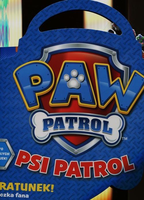 okładka Psi patrol Na ratunek teczka z naklejkamiksiążka     
