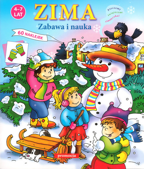 okładka Zima Zabawa i nauka Naklejanki (4-7 lat)książka |  |