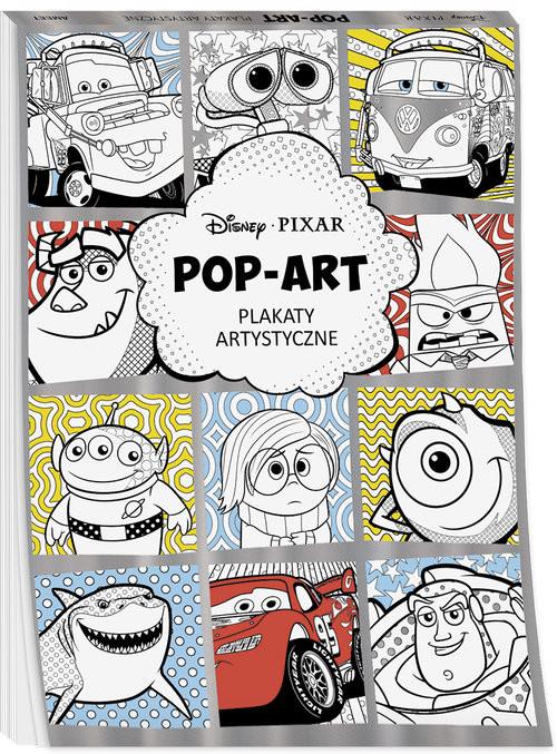 okładka Disney Pixar Pop art Plakaty artystyczneksiążka     