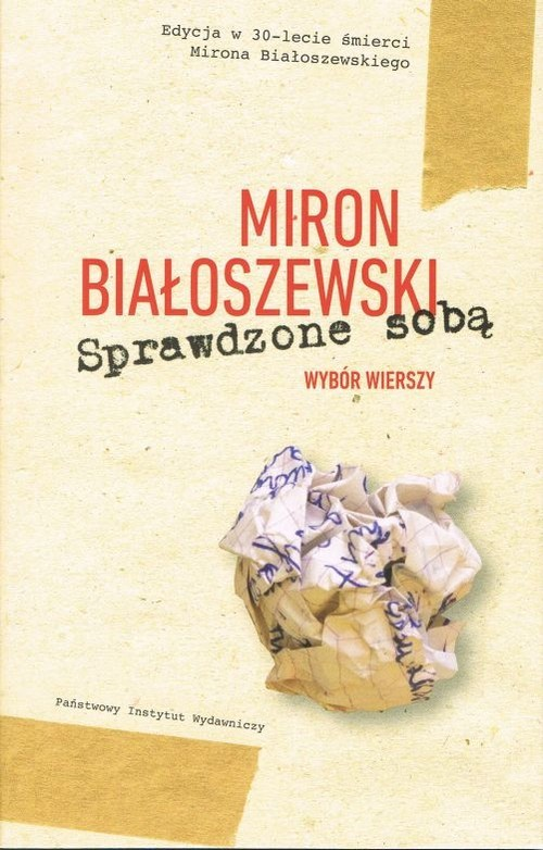 okładka Sprawdzone sobą Wybór wierszyksiążka      Białoszewski Miron