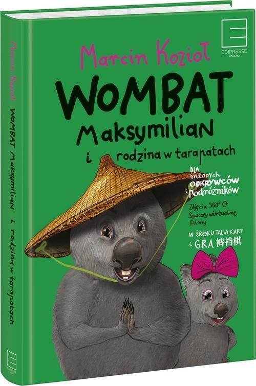 okładka Wombat Maksymilian i rodzina w tarapatach, Książka | Marcin Kozioł