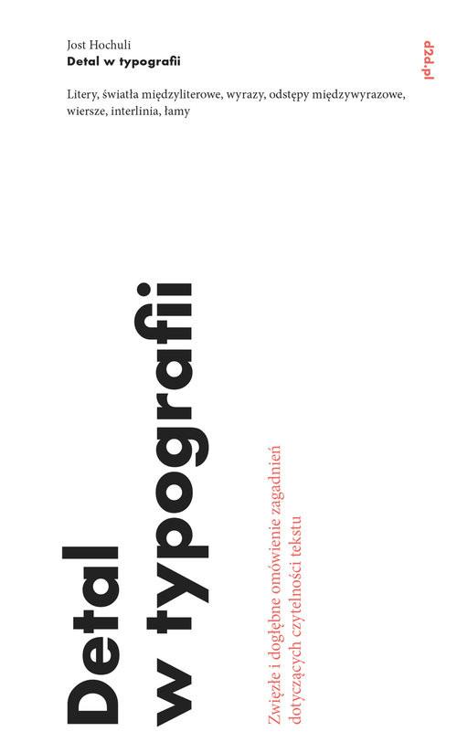 okładka Detal w typografii, Książka | Jost Hochuli