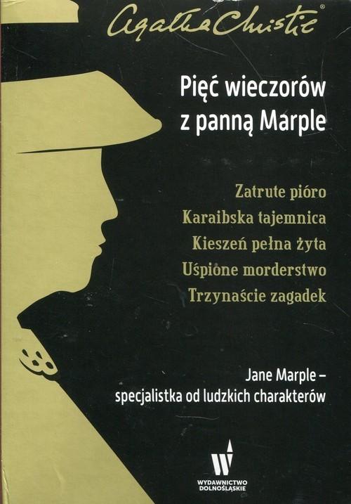 okładka Pięć wieczorów z panną Marple Zatrute pióro / Karaibska tajemnica / Kieszeń pełna żyta / Uśpione morderstwo / Trzynaście zagadek Pakietksiążka |  | Agata Christie