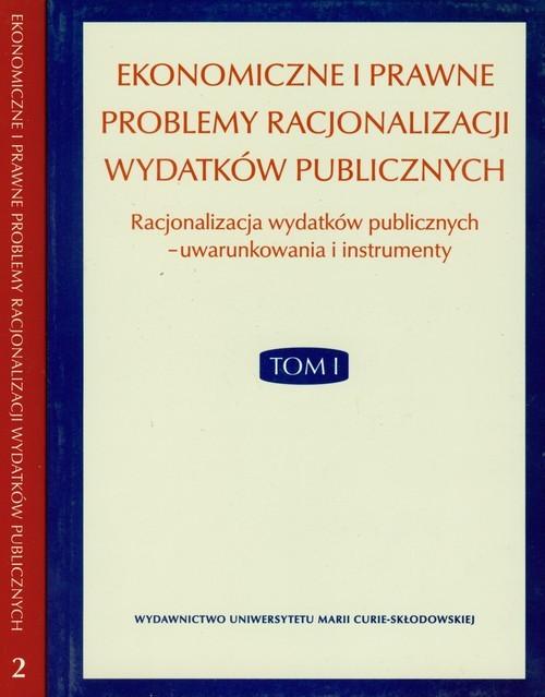 okładka Ekonomiczne i prawne problemy racjonalizacji wydatków publicznych Tom 1- 2książka |  |