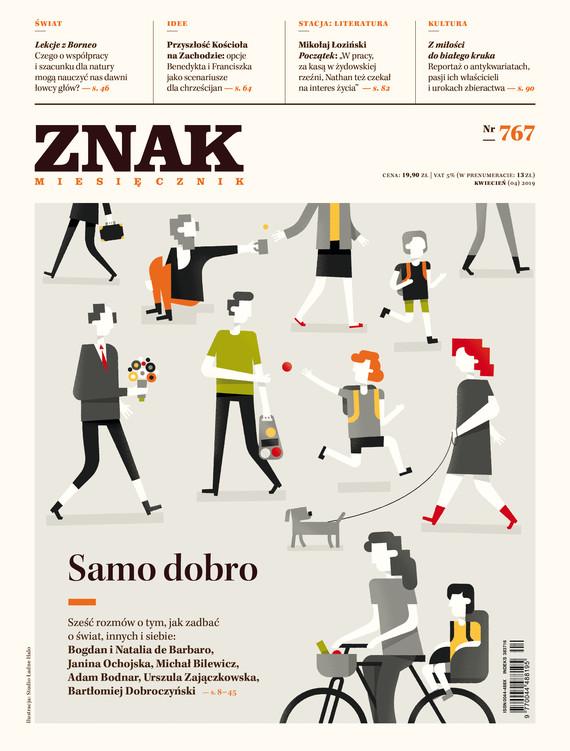 okładka ZNAK 767 4/2019: Samo dobroksiążka     