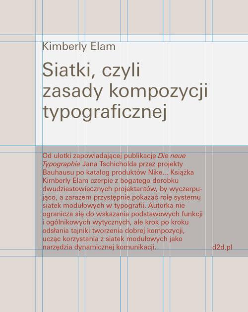 okładka Siatki czyli zasady kompozycji typograficznej, Książka | Kimberly Elam