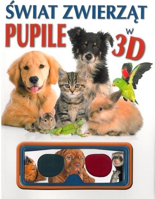 okładka Świat zwierząt Pupile w 3D, Książka |