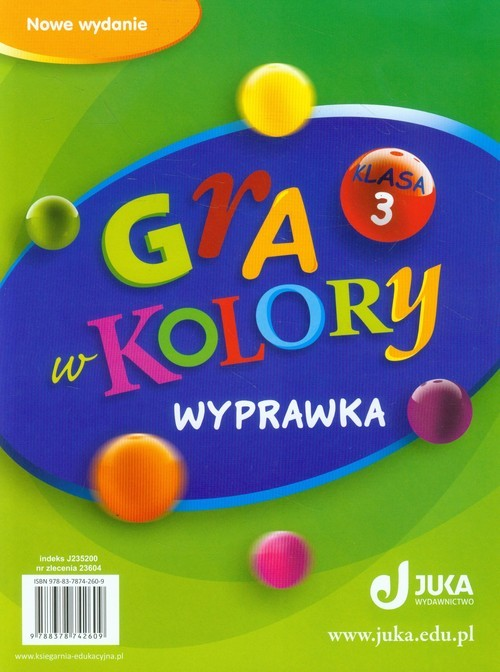 okładka Gra w kolory 3Wyprawka Szkoła podstawowa, Książka   Katarzyna Grodzka, Beata Sokołowska