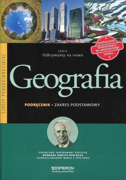 okładka Odkrywamy na nowo Geografia Podręcznik Zakres podstawowy Szkoła ponadgimnazjalna, Książka   Kurek Sławomir