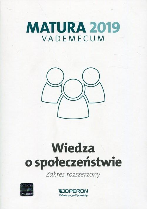 okładka Matura 2019 Vademecum Wiedza o społeczeństwie Zakres rozszerzonyksiążka |  | Mikołaj Walczyk, Iwona Walendziak