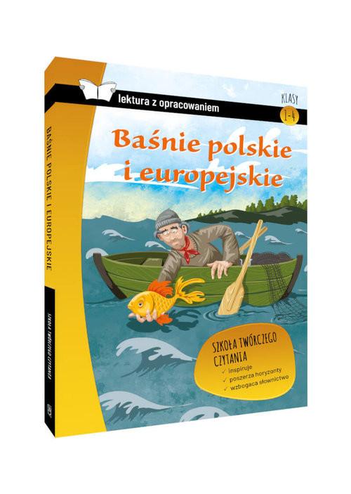 okładka Baśnie polskie i europejskie Lektura z opracowaniem Klasy 4-6 szkoła podstawowa, Książka |