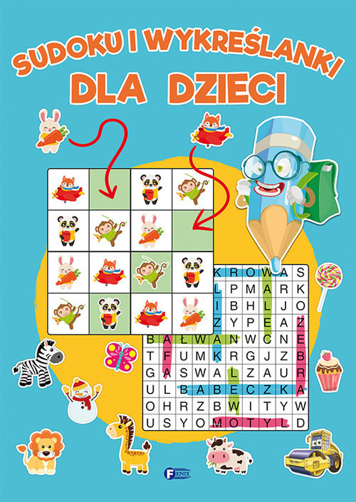 okładka Sudoku i wykreślanki dla dzieci, Książka  