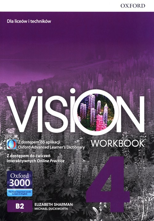 okładka Vision 4 Workbook Liceum technikum, Książka | Elizabeth Sharman, Michael Duckworth