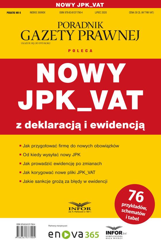 okładka Nowy JPK_VAT z deklaracją i ewidencjąebook | pdf | Praca zbiorowa