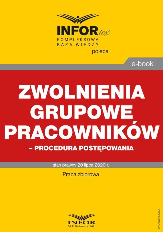 okładka Zwolnienia grupowe pracowników – procedura postępowaniaebook | pdf | praca zbiorowa