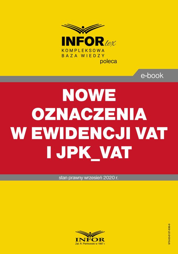okładka Nowe oznaczenia w ewidencji VAT i JPK_VATebook | pdf | Praca zbiorowa
