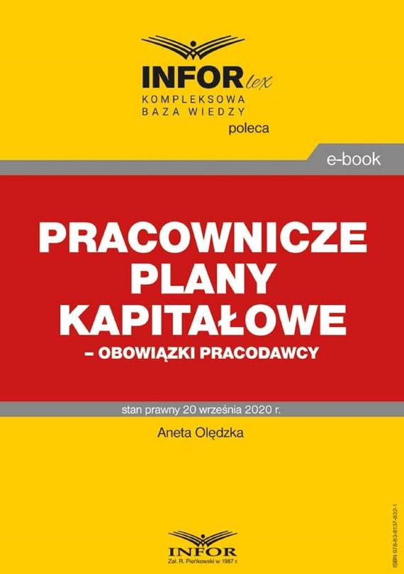 okładka Pracownicze plany kapitałowe – obowiązki pracodawcyebook | pdf | dr Aneta Olędzka