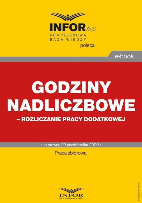 okładka Godziny nadliczbowe,rozliczanie pracy dodatkowejebook | pdf | Praca Zbiorowa
