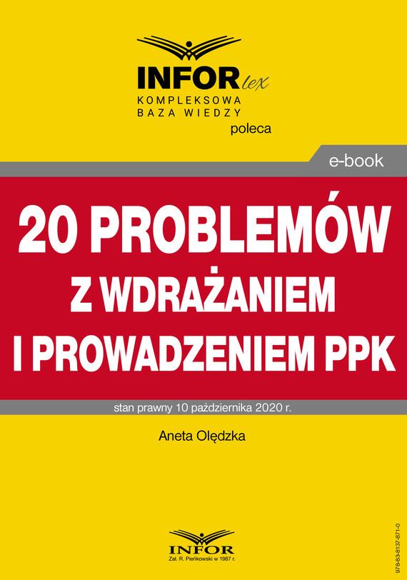 okładka 20 problemów z wdrażaniem i prowadzeniem PPKebook | pdf | dr Aneta Olędzka