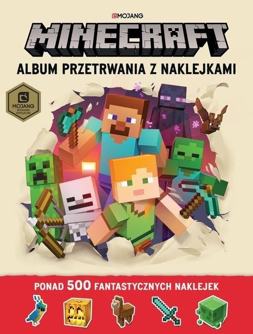 okładka Minecraft Album przetrwania z naklejkamiksiążka |  | Craig Jelley, Stephanie Milton