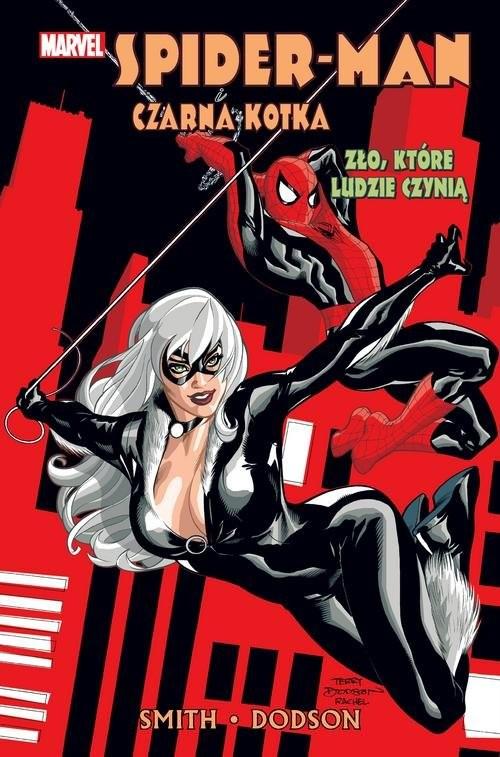 okładka Spider-Man i Czarna Kotka Zło które ludzie czyniąksiążka      Kevin Smith, Terry Dodson