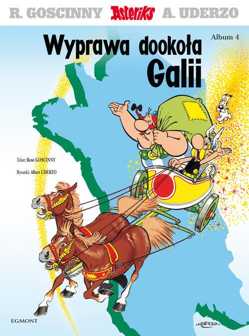 okładka Asteriks Wyprawa dookoła Galii Tom 4książka |  | René Goscinny, Albert Uderzo