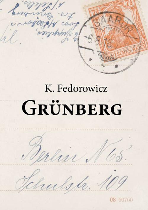 okładka Grunbergksiążka      Fedorowicz Krzysztof