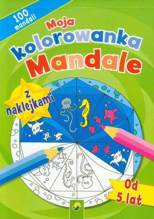 okładka Moja kolorowanka z naklejkami Mandaleksiążka     
