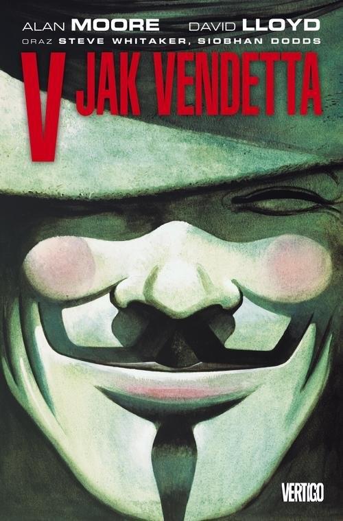 okładka V jak Vendettaksiążka      Alan Moore