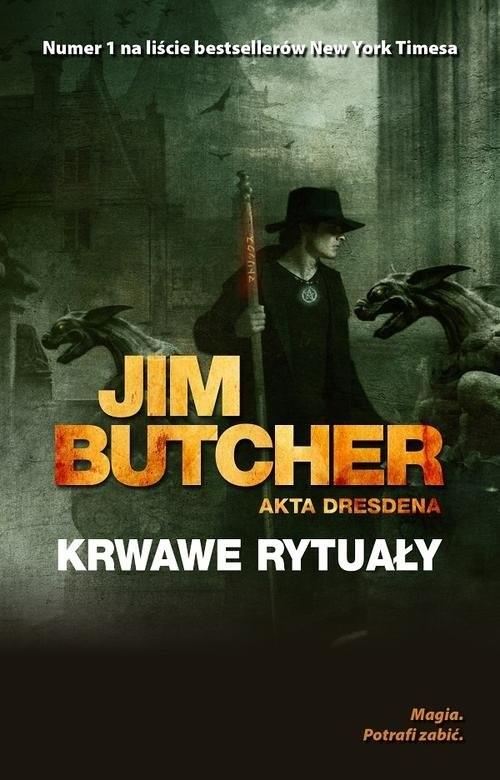 okładka Akta Dresdena Krwawe rytuałyksiążka      Jim Butcher
