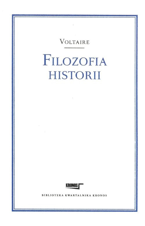 okładka Filozofia historiiksiążka      Voltaire