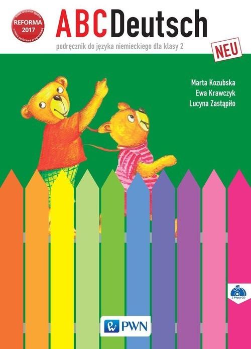 okładka ABCDeutsch neu 2 Podręcznik + 2CD Szkoła podstawowaksiążka |  | Marta Kozubska, Ewa Krawczyk, Lucyna Zastąpiło
