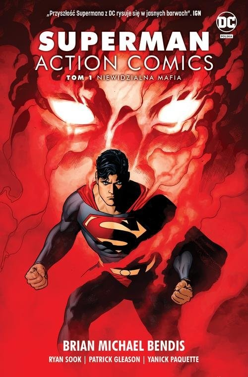 okładka Superman Action Comics T.1 Niewidzialna mafiaksiążka      Brian Michael Bendis