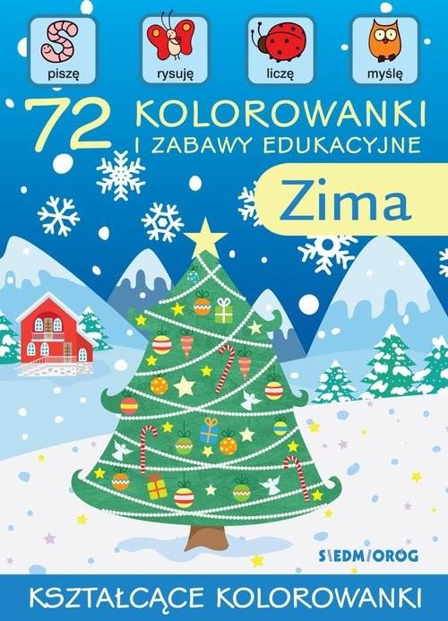 okładka 72 kolorowanki i zabawy edukacyjne Zimaksiążka |  | Warzecha Teresa