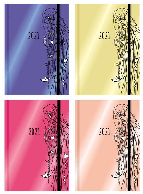 okładka Terminarz wyjątkowej dziewczyny 2021 mix kolorówksiążka |  |