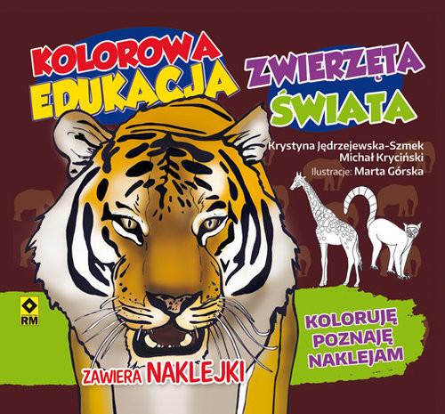 okładka Kolorowa edukacja Zwierzęta świata Naklejkaksiążka |  | Michał Kryciński, Krystyna Jędrzejewska-Szmek