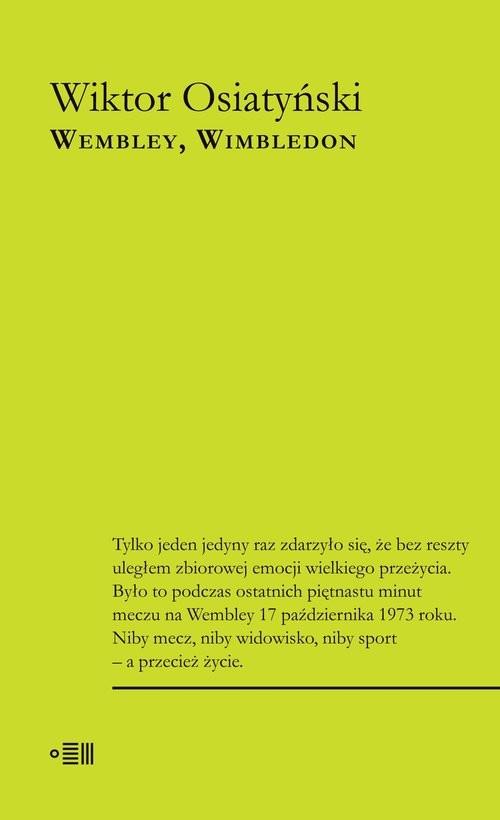 okładka Wembley Wimbledonksiążka      Wiktor Osiatyński