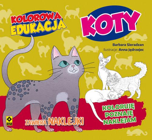 okładka Kolorowa edukacja Kotyksiążka      Sieradzan Barbara