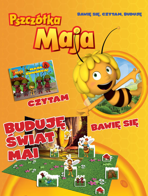 okładka Pszczółka Maja Bawię się czytam buduję nr 1książka |  |