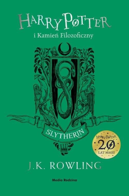 okładka Harry Potter i kamień filozoficzny Slytherinksiążka      Joanne K. Rowling