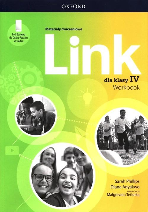 okładka Link 4 Materiały ćwiczeniowe + Online Practice Szkoła podstawowaksiążka |  | Sarah Phillips, Diana Anyakwo